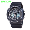 Men Sport Watches Military Style Watch Digital Watches Silicone Band Dual Display Watches Relogios Masculinos