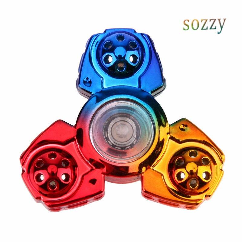 Tri Fidget Spinner Rainbow Toys EDC Hand Spinner Spiner Anti Stress Reliever...