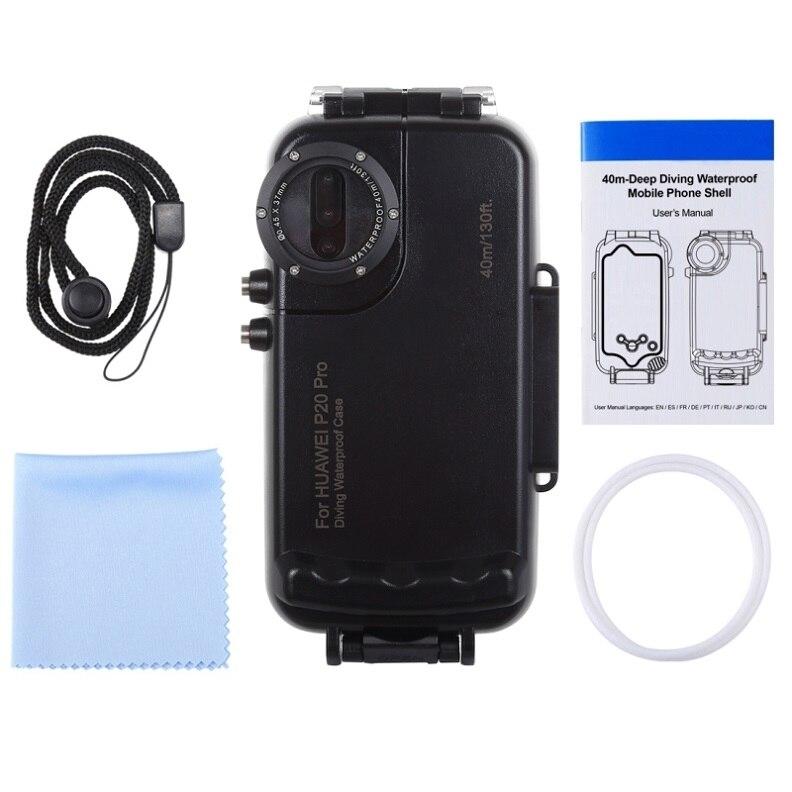 Caisson étanche de plongée professionnel pour Huawei P20 Pro boîtier 40 M vidéo prenant la couverture sous marine pour Huawei P20 Pro - 4
