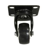 LHLL 4 Pcs Heavy Duty 200kg 50mm Swivel Castor Wheels Trolley Furniture Caster Rubber