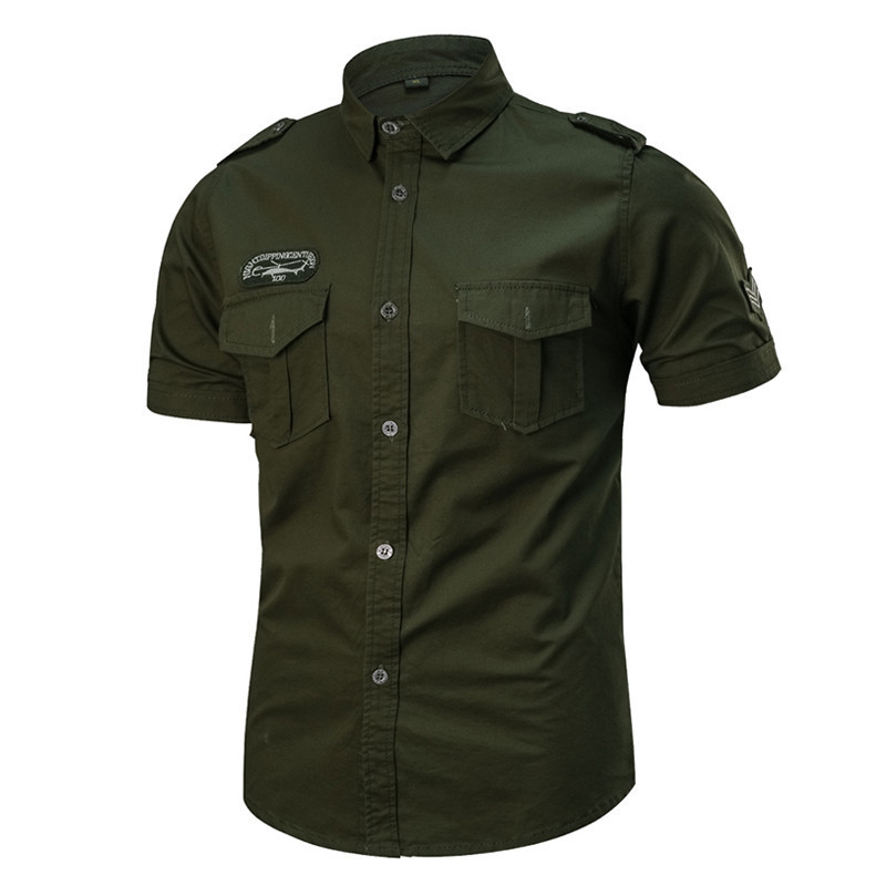 Tactical Shirt Cardigan Fishing Outdoor Hiking Summer Short-Sleeve Breathable Training