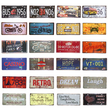 Metal Tin Signs US Route 66 Garage Car License Plate Art Poster Motor Hot Rod Retro Panels, Home Decor, Man Cave(China)