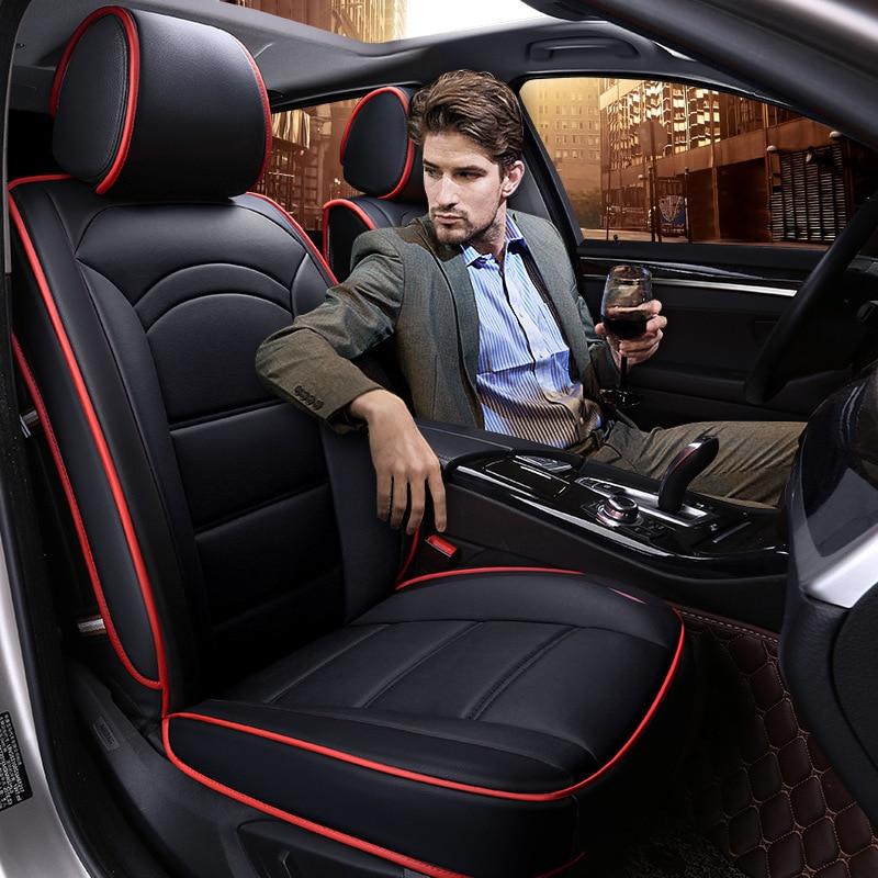 5Seats(front+rear)seat cover for TOYOTA Corolla RAV4 Highlander PRADO Yaris Prius Camry leather ...