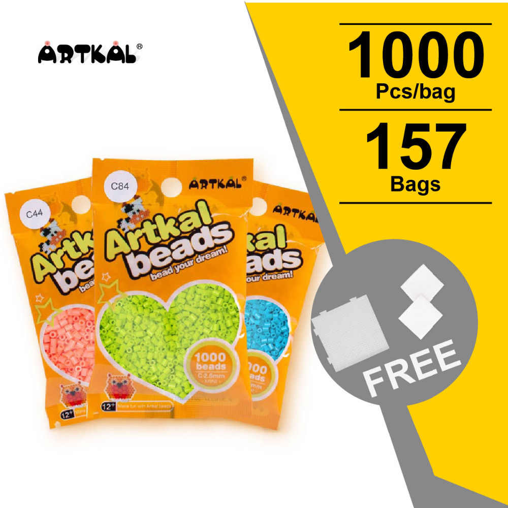 10 Bags S 5mm Artkal Beads 1000pcsbag Perler Iron Beads