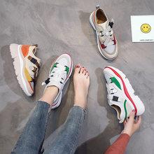 c65703e93 Das mulheres sapatos 2018 novos sapatos casuais versão Coreana de Harajuku  selvagem Hong Kong fivela vento