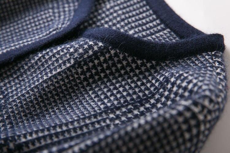 Automne Green Gamme Cardigan Femmes Et D'hiver Noir Haut 2018 De Nouvelles Boutique Plaid army gris Tricot Manteau Coton UwdqWTg