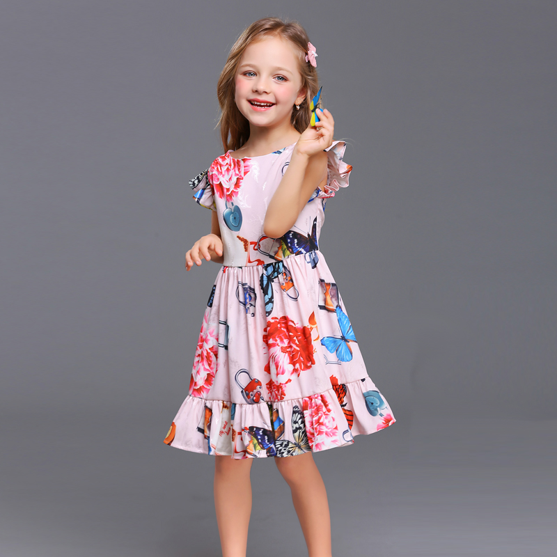 Summer family matching clothes kids clothes baby girl women holiday shine print flower party dress mother daughter beach dresses summer children clothes princess flower print kids beach dress infant formal birthday party girl white dress family match outfit