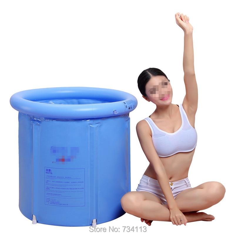Portable Inflatable Tub Spa Bath High Quality Folding Bucket Thickening Bathtub With Lid In