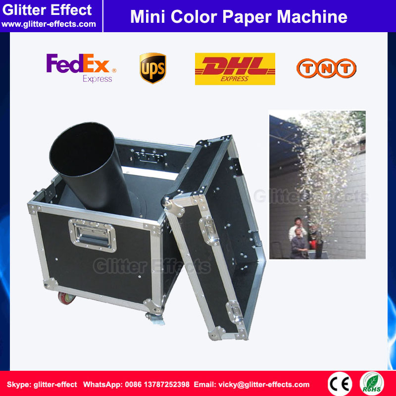 DJ stage special effect wedding party Mini color paper confetti shooting cannon machine Celebration event confetti blower hot 1500w confetti machine rainbow machine entertainment open air concert theater american dj stage effects