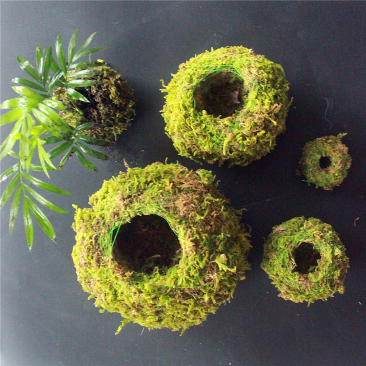 6/9/12CM Green Moss Ball Flower Pot Flower Bonsai Pot Holder for Garden Home Decorations Moss Ball Plant Pot  1