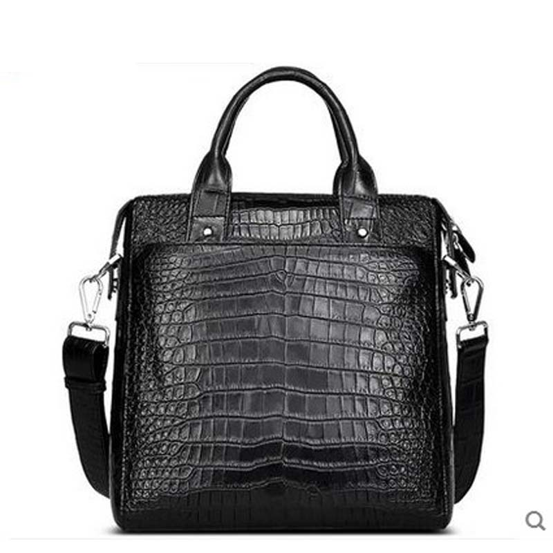 2018 Cestbeau crocodile belly men handbag men's single shoulder bag without splicing whole skin belly Vertical section men without women