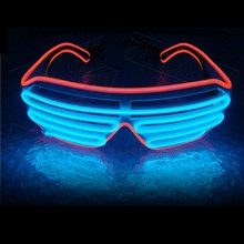 LED Double-colored Neon Luminous Glasses Flashing Eyeglass Party Wire Light Halloween Fluorescent Glowing