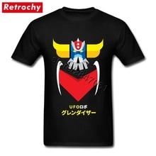 Custom Printed Anime mazinger z t shirt Guys Short Sleeves O Neck Cotton  Japanese manga Tees Shirt for Men Great Fashion Trends