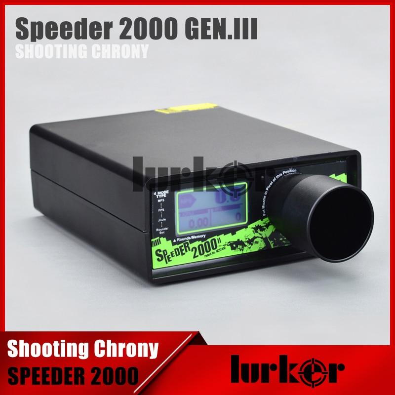 Hlurker chronographe SPEEDER 2000 tir Chrony peut stocker 10 jeux de données mieux que X3200 pour Airsoft Air BB Gun