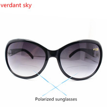 2017 High-quality Fashion reading glasses Presbyopia sun glasses men and women of the new sun can read enlarge Bifocal reading