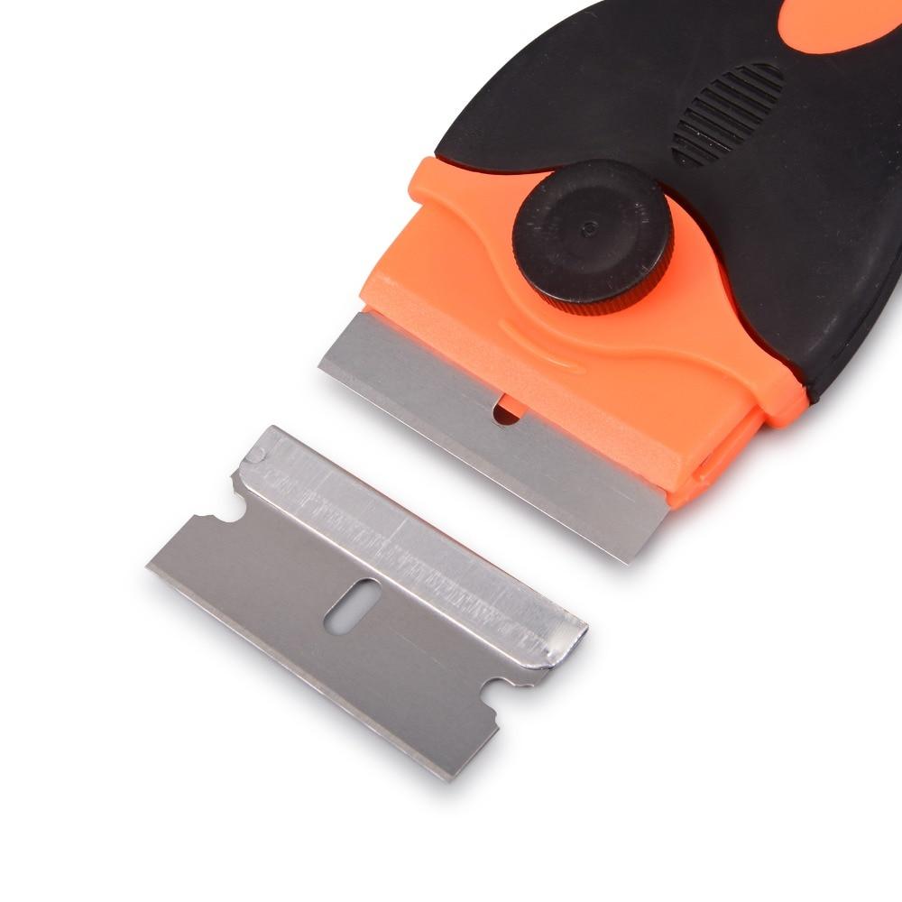 EHDIS Rasiermesser Schaber Mit 10 stücke 1,5 Zoll Klinge Fenster Tönung Werkzeuge Vinyl Film Auto Wrap Aufkleber Kleber Entferner Auto styling Hand Werkzeuge
