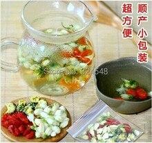 10 bolsas para embarazadas obstétricos té, crisantemo buds, flor de jazmín, wolfberry, combinación de té perfumado, envío gratis