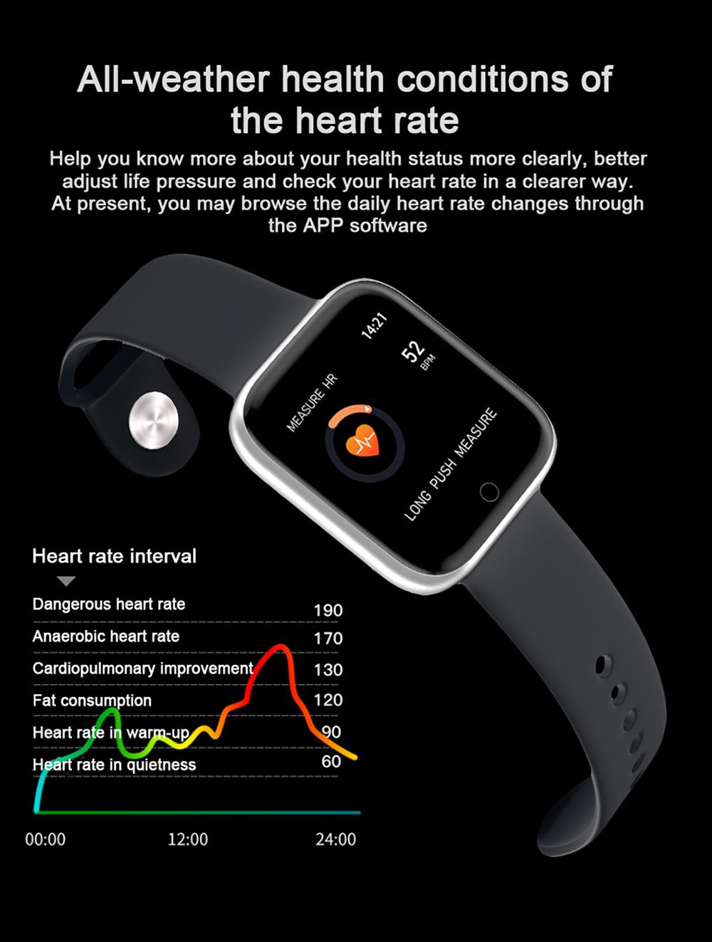 Reloj inteligente impermeable T80 Bluetooth 4