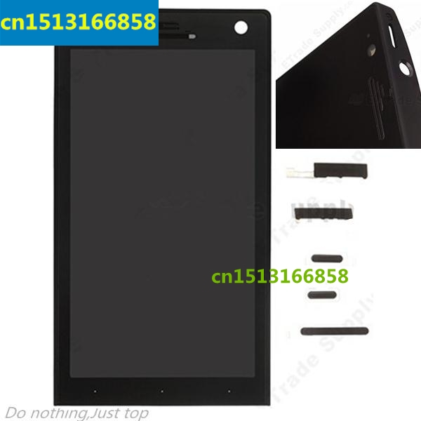 HK LCD Screen and Digitizer Assembly with Front Housing for Sony Xperia S LT26i - Black