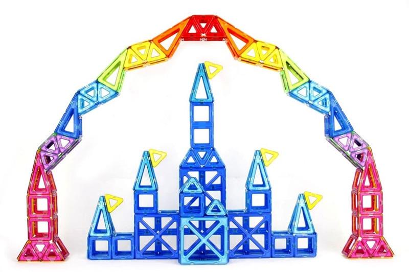Children Toy Bricks 47pcs 78pcs Magnetic Building Toys 3D Magformers Diy Building Block Gift Toys
