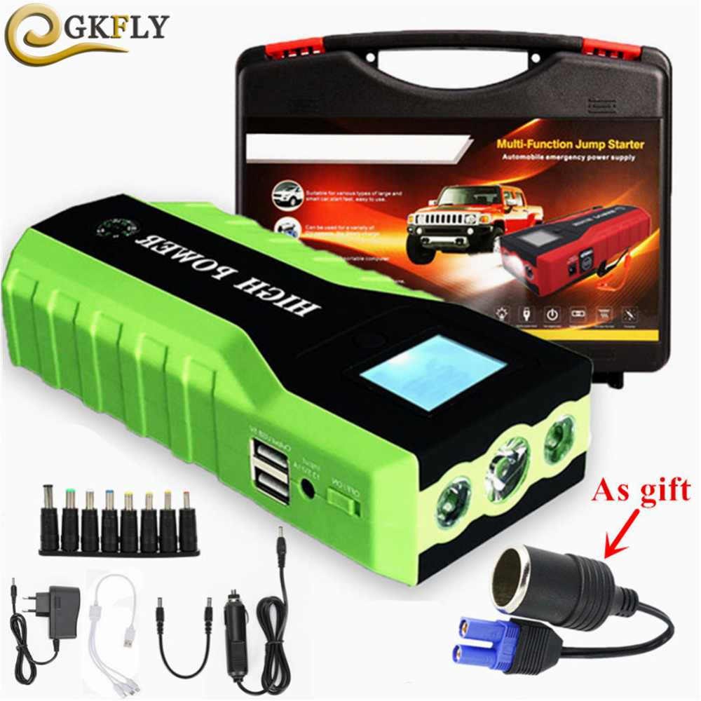 High Capacity 12V 600A Starting Device 69800mAh Jump Starter Car Power Bank Portable Car Charger For