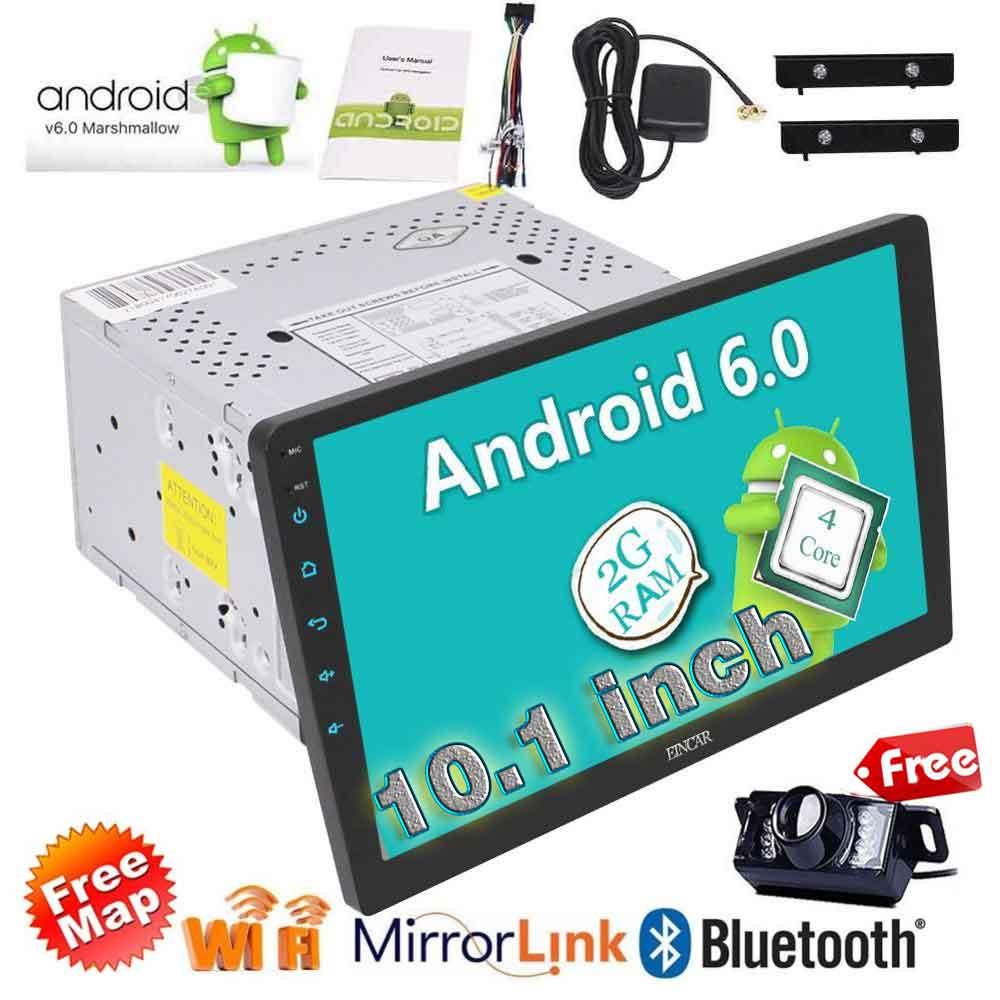 EinCar 10,1 ''стерео чистый андроид 6,0 2Din головного устройства в тире Bluetooth автомобиля gps Навигатор Авто Радио развлечения + камера