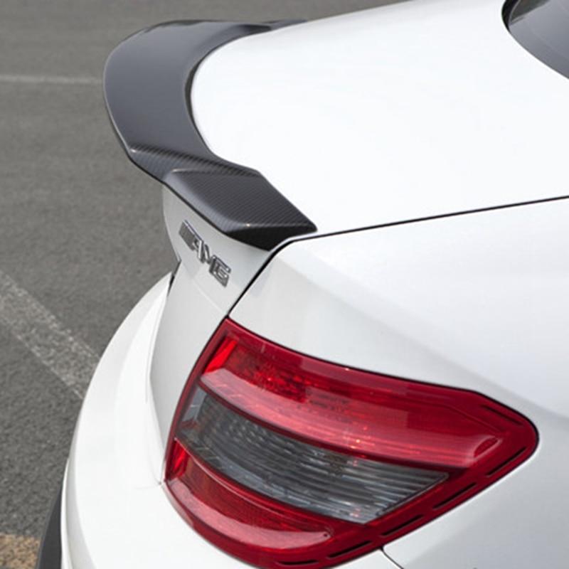 Fibra de carbono Spoiler Traseiro Trunk Spoiler Asa Para O Benz W204 Classe C C200 C300 C350 C63 C250 4-Door 2008-2013