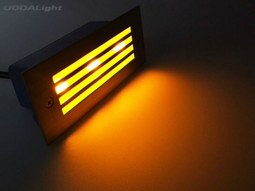 Led Underground Lamps Practical 10pcs/lot 110*45*55mm Stair Light Outdoor 2w Garden Decking