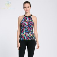 Hello Anthena Womens Strapless Tank Polyester Spandex Active Top Dream Geometry Camisole Sports Yoga Fitness Running