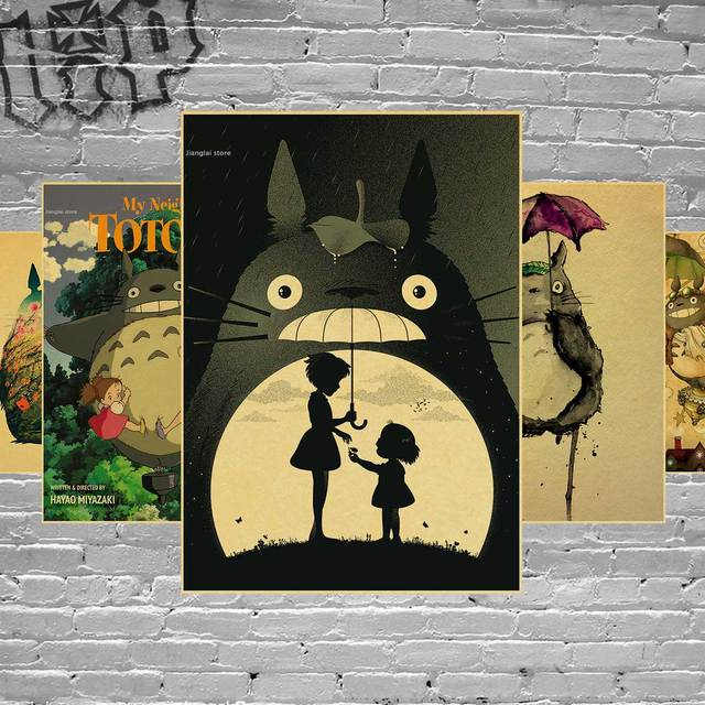 Adesivo De Parede Neighbor Totoro Anime Posters Poster Hayao ...