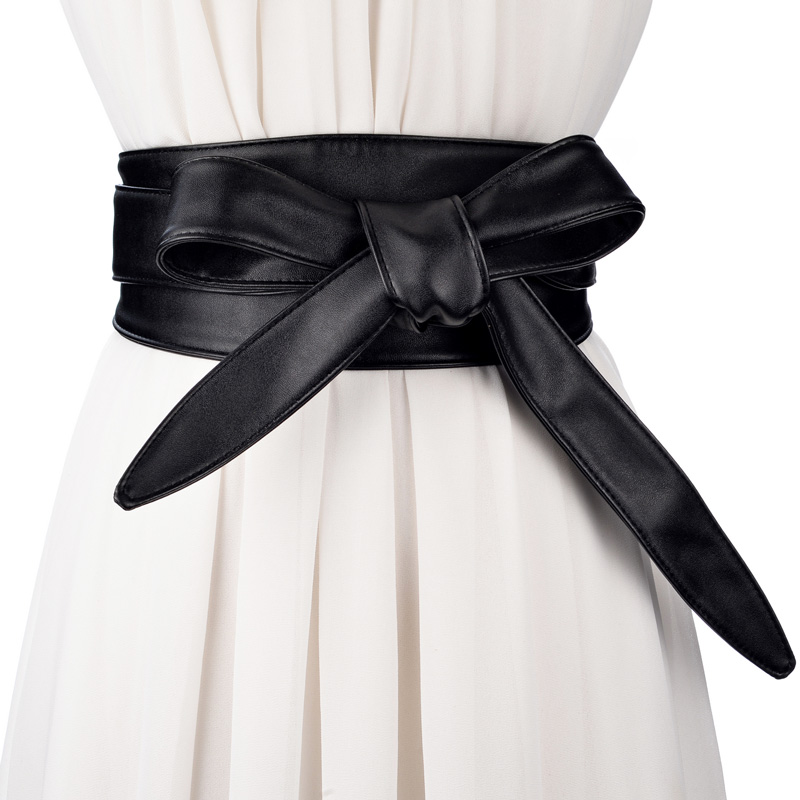 High Quality New Joker Wide Belt Female Long Sweet Tie Belt Female Fashion Decoration Decorated Skirt Waist Sealing