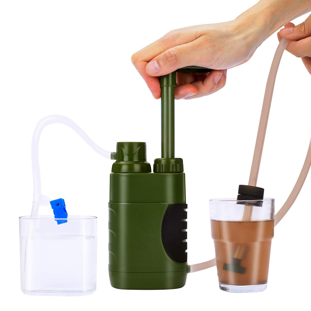 Outdoor Water Filter Straw Water Filtration System Water Purifier for Family Preparedness Camping Hiking Emergency Multi Tool