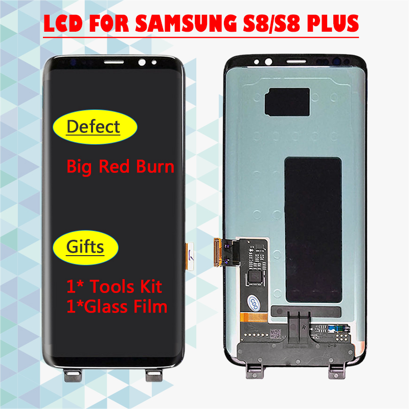 Original LCD With Burn Shadow For <font><b>Samsung</b></font> Galaxy <font><b>S8</b></font> G950F Lcd <font><b>Display</b></font> <font><b>S8</b></font> plus G955F With Touch Screen Digitizer <font><b>G950fd</b></font> G955fd image