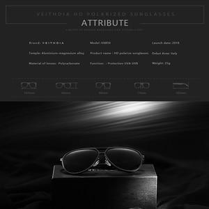 Image 3 - VEITHDIA Brand Mens Aluminum Magnesium Sunglasses Polarized UV400 Lens Eyewear Accessories Male Sun Glasses For Men/Women V6850