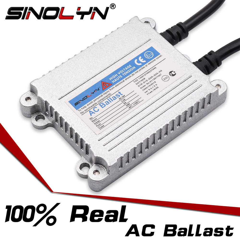 Car Styling 12V 35W 9-16V HID Xenon Headlight 100% Real High Quality AC Slim Ballast Reactor Ignition Block For Xenon HID Lamps