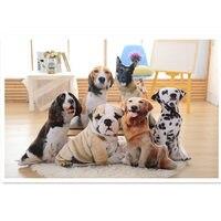 جميل 3d الكلاب وسادة لعبة ، بيغل الدلماسي شاربي سبرينغر الذهبي المسترد الراعي الألماني لينة حيوان الاطفال الاليفة الهدايا جرو