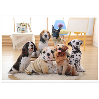 Lovely 3D Dogs pillow toy,beagle Dalmatian SharPei springer Golden Retriever German Shepherd soft animal kids pets gifts puppy
