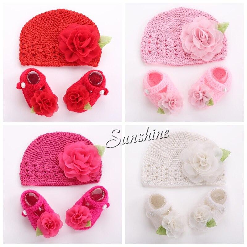 Flor del ganchillo del bebé foto de la muchacha invierno sombrero ...