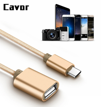 Cavor Type-C USB C OTG Cable USB 2.0 OTG Adapter For Huawei P10 P20 Mate 10 20 Pro Macbook USB OTG Adapter For Samsung s8 s9 s8+