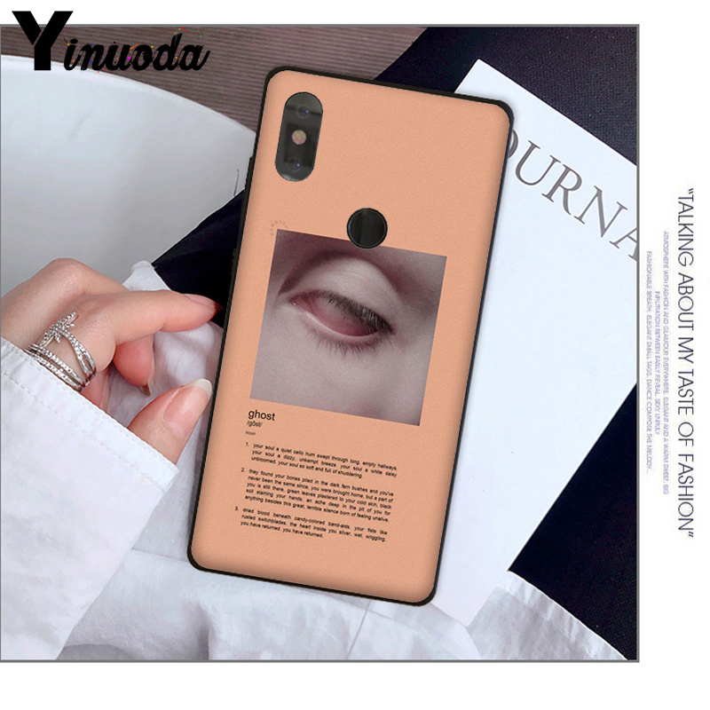 Yinuoda Pink Aesthetics songs lyrics Aesthetic Soft Silicone TPU Phone  Cover for Xiaomi MI MIX 2 2S 6 8 8SE Note 3 Redmi 5 plus