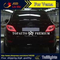 Free Shiping 12V 6000k LED Rear Light For Hyundai Verna 2012 2013 Taillight Lamps Auto Light