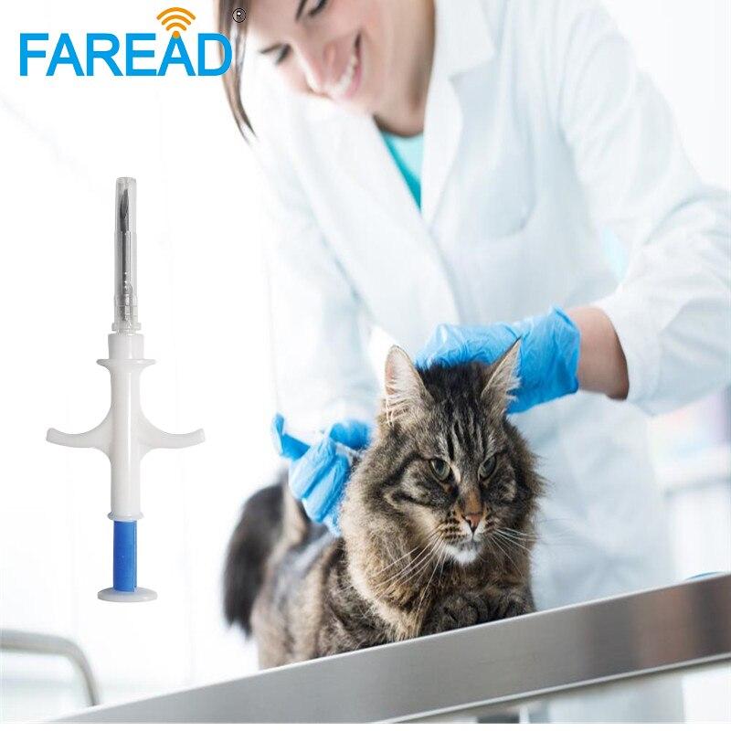 RFID 134.2Khz ISO11784/5 2.12x12mm RFID Animal Microchip Implant Veterinary Syringe For Dog,cat ,mouse, Turtle,arowana,snake Etc