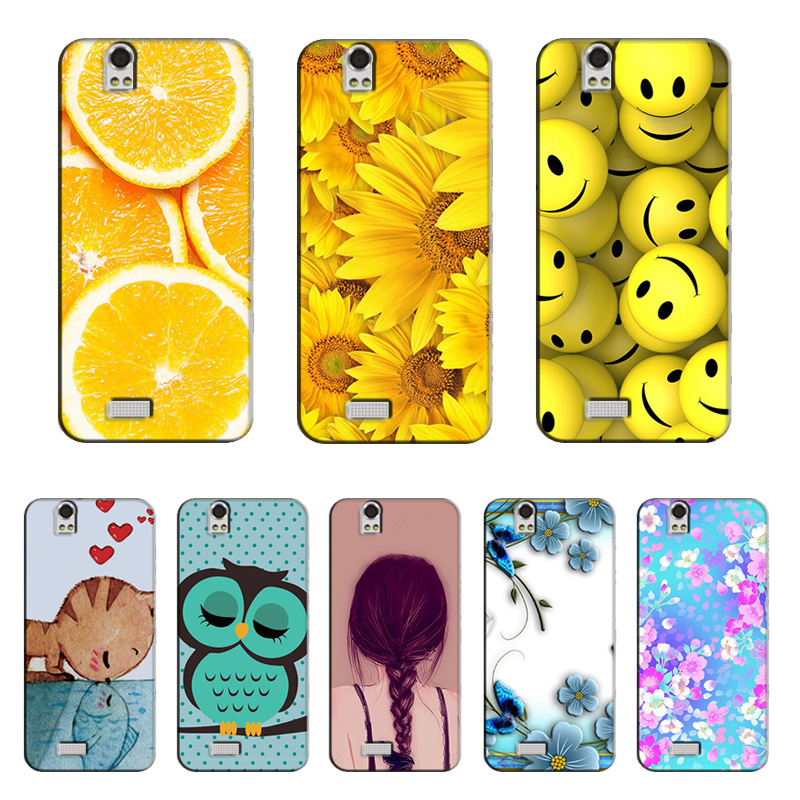 Luxury Floral Painted Case for Fly IQ4503 ERA Life 6 Quad Case Cover Art printed Flower funda for Fly IQ4503 ERA Life 6 Quad