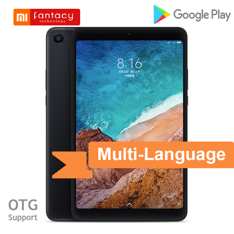 Multi-Language Xiaomi Mi Pad 4 32GB / 64GB LTE MiPad 4 Snapdragon 660 Octa Core 8'' HD Screen Android 8.1 Mi Pad 4 Tablet