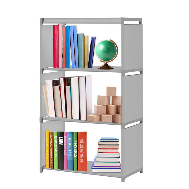 Cuboid Closet Organizer Shelf Multilayer Moved Bookcase Christmas Gift  Portable Moving Mini Bookrack Storage Shelves For