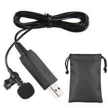 Usb-микрофон портативная мини стерео-система клип петличный микрофон конденсаторный микрофон для компьютера, персональный компьютер, караоке, студии
