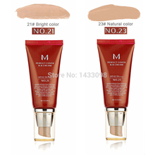 Free Shipping 2015 Hot Sale New Makeup Perfect Cover #21 Or #23 BB Cream SPF42 50ml With Box