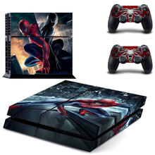 Spider-man Decal Vinyl PS4 Sticker Skins For Playstation 4 Console and Two Controller Skin