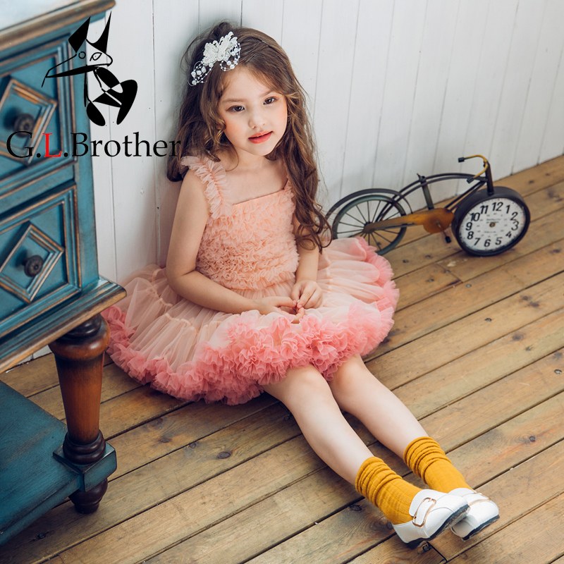 Princess Tutu Dress Layered Flower Girl Dresses Suspenders Mini Kids Baby Girls Birthday Gowns Tulle Holy Comminion Dress kids fashion comfortable bridesmaid clothes tulle tutu flower girl prom dress baby girls wedding birthday lace chiffon dresses