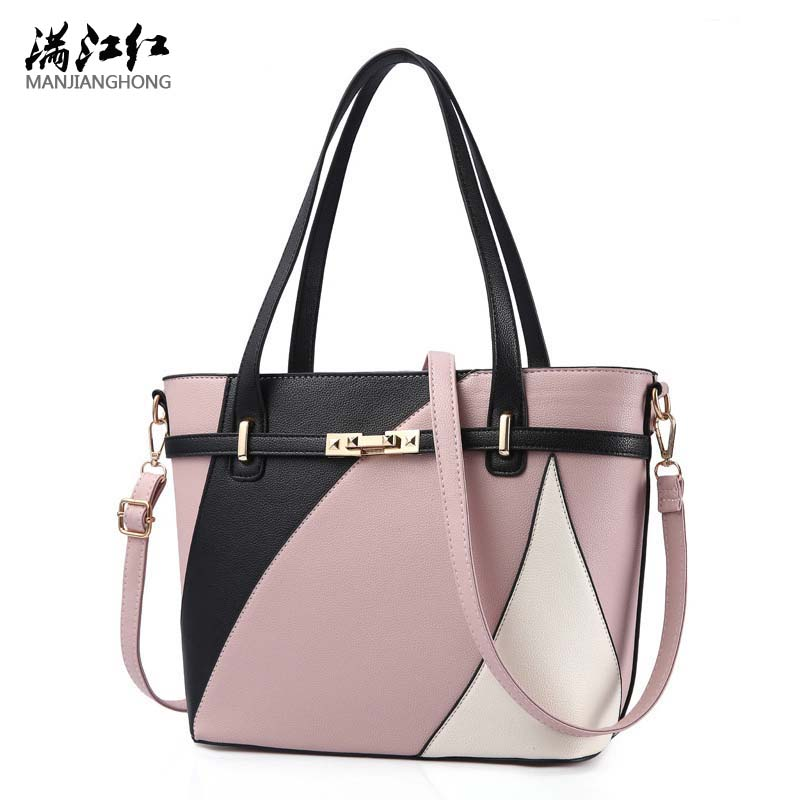 Women Leather Handbags Shoulder Bag Women's Casual Tote Bag Female Patchwork Handbags High Quality Sac a Main Ladies Hand Bags new women genuine leather handbags shoulder bag oil wax cow leather tote bags female vintage handbags sac a main ladies hand bag
